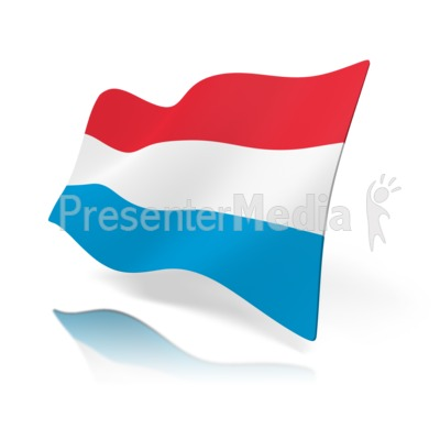 Luxembourg Flag Presentation clipart