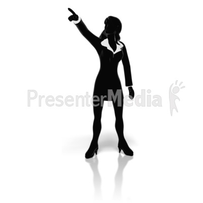 Businesswoman Pointing Presentation clipart