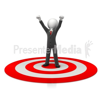 Business Celebration On Target Presentation clipart