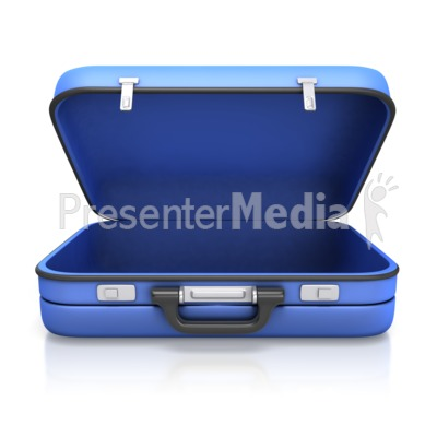 Empty Suitcase Presentation clipart