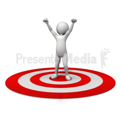 Figure Celebration On Target Presentation clipart