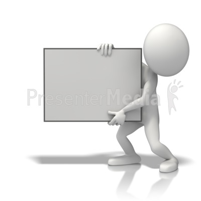 Figure Sign Left Presentation clipart