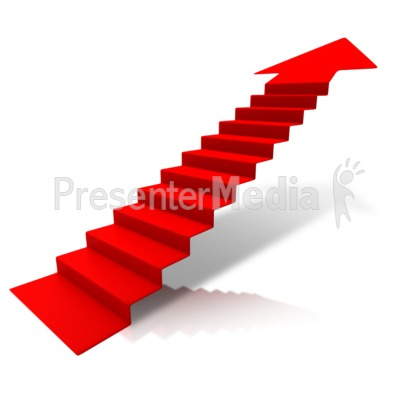 Steps Climbing Up Arrow Presentation clipart