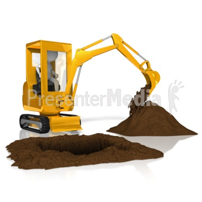 Stick Figure Backhoe Presentation clipart