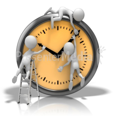Changing The Clock Presentation clipart