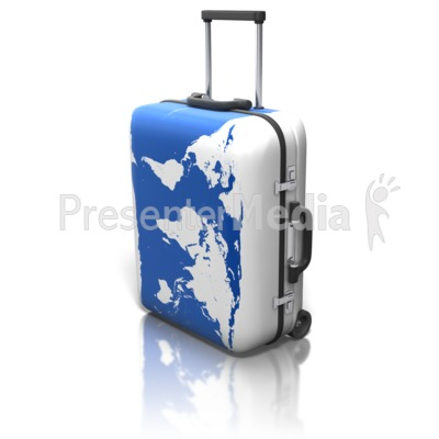 World Map On Suitcase Presentation clipart