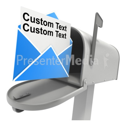 Mailbox Opened Letter Text Presentation clipart