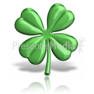 Four Leaf Clover Presentation clipart