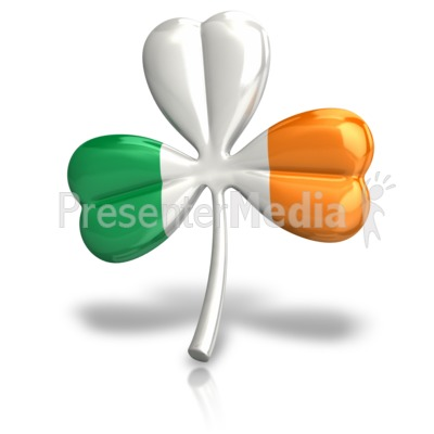 Irish Three Leaf Clover Signs And Symbols Great Clipart For