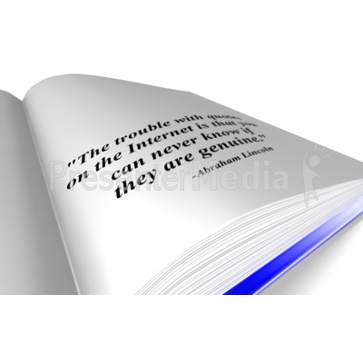 Book Quote Presentation clipart