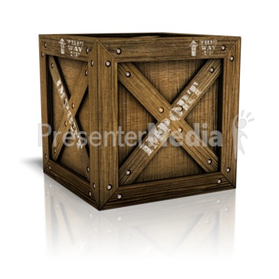 Imported Crate Box Presentation clipart