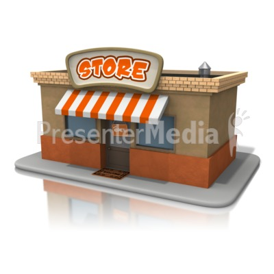 Open Store Front Presentation clipart