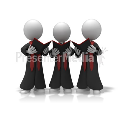 Choir Trio Sing Presentation clipart