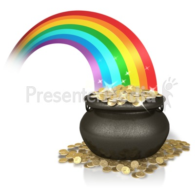 Shiny Rainbow Gold Presentation clipart