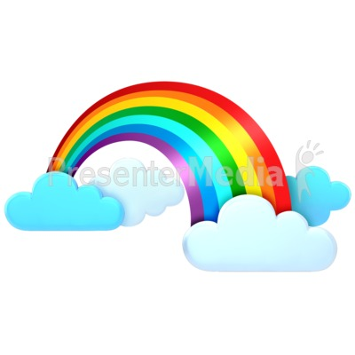 Rainbow In The Clouds Presentation clipart