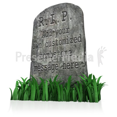 Tombstone Message Presentation clipart