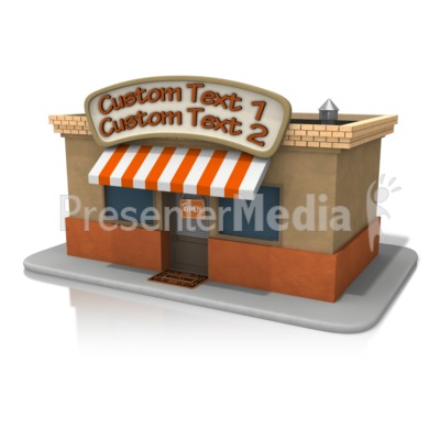 Open Store Front Text Presentation clipart