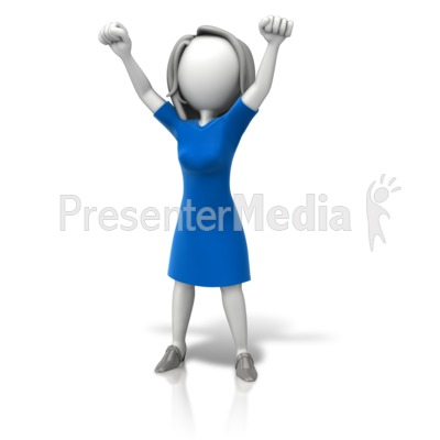 Woman Celebration Arms Up Presentation clipart