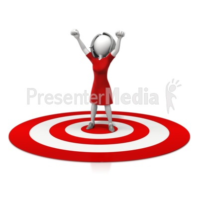 Woman Celebration On Target Presentation clipart