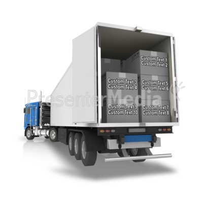 Semi Trailer Backup Boxes Text Presentation clipart