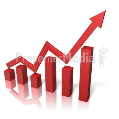 Arrow Graph Growth Presentation clipart