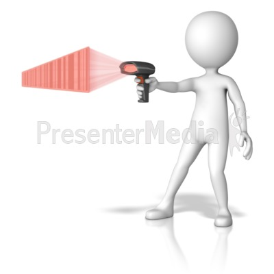 Figure Pointing Scanner Presentation clipart