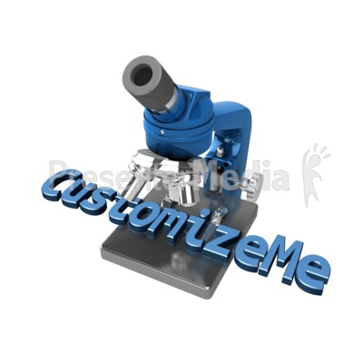 Microscope Text Presentation clipart