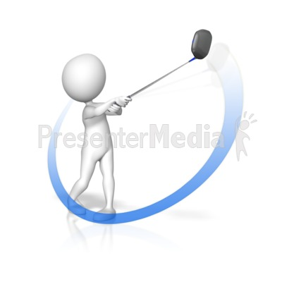 Golf Swing Swoop Presentation clipart