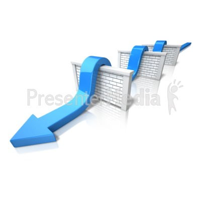 Arrow Jumping Walls Presentation clipart