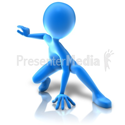 Hero Crouching Pose Presentation clipart