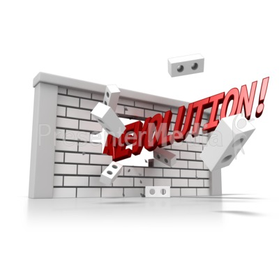 Brick Wall Word Presentation clipart