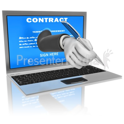 Computer Digital Signature Presentation clipart