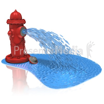 Fire Hydrant Spray Water - Presentation Clipart - Great