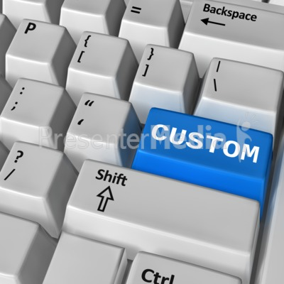 Keyboard Custom Enter Presentation clipart