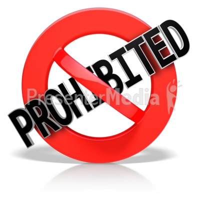 Prohibited Text Presentation clipart