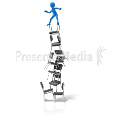 Balance On Chairs Presentation clipart