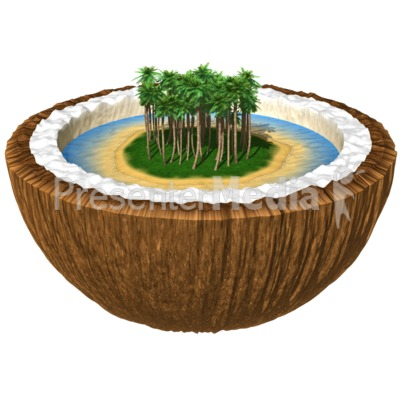 Island in a Coconut Presentation clipart