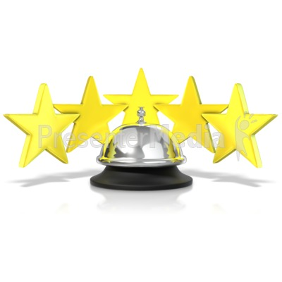 Five Star Service Bell Presentation clipart