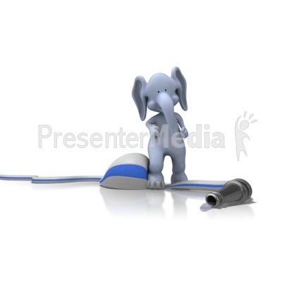 Elephant On Hose Presentation clipart