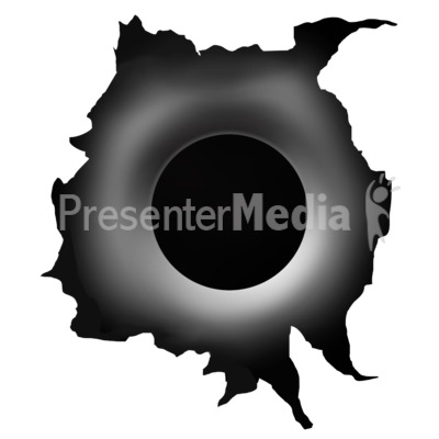 Single Bullet Hole Tear Presentation clipart