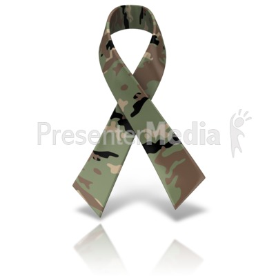 Army Camo Awareness Ribbon Presentation clipart