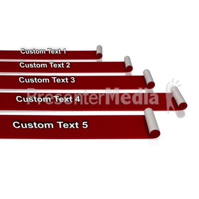 Custom Red Carpet Rolls Presentation clipart