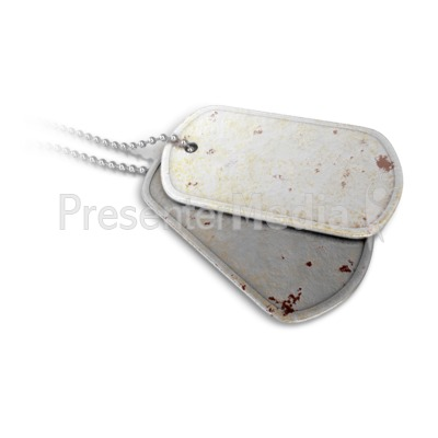 Dog Tags Closeup Presentation clipart