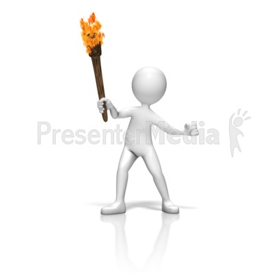 Stick Figure Torch Presentation clipart