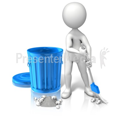 Pick Up Garbage Presentation clipart