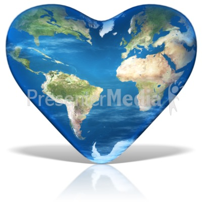 Earth Day Heart Presentation clipart