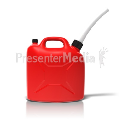 Simple Gas Can Presentation clipart