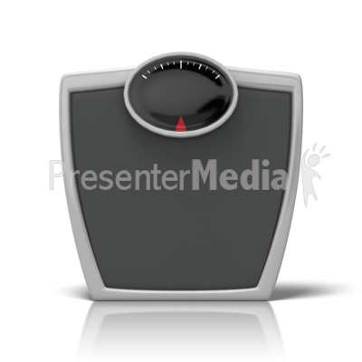 Bathroom Scale Presentation clipart