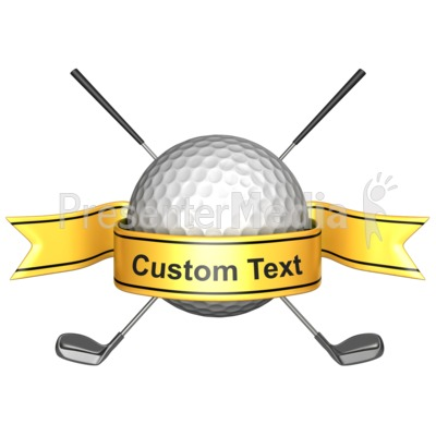 Custom Golf Banner Presentation clipart