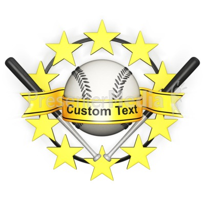 Custom Baseball Banner Presentation clipart